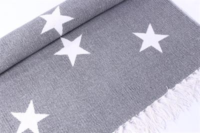 teppich mit sternen grau weiss 140 x 200. Black Bedroom Furniture Sets. Home Design Ideas