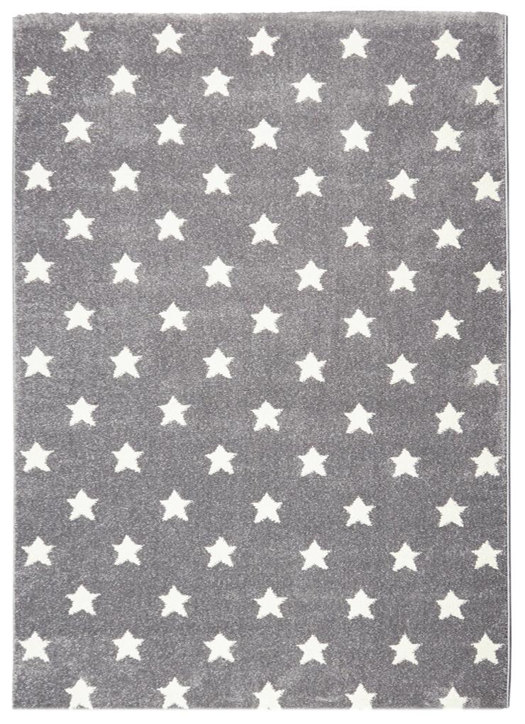 Teppich mit kleinen Sternen hellgrau & HoneyHomech
