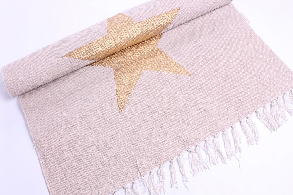Teppich mit Sternen pastellrosagold & HoneyHomech