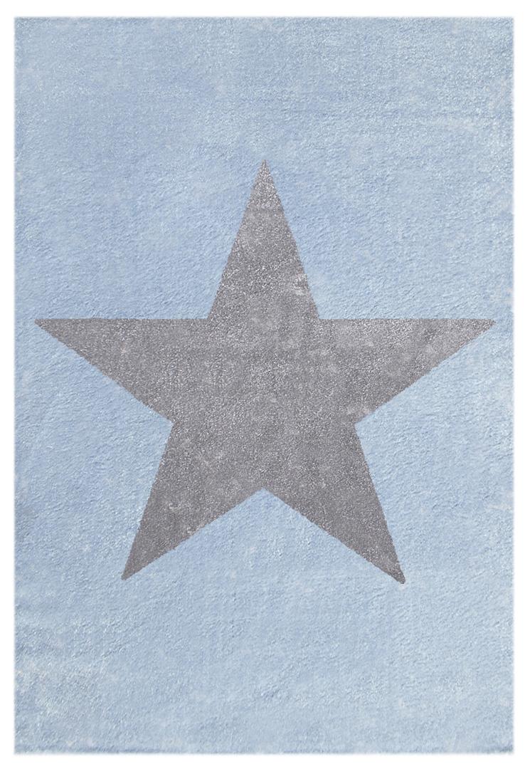 Teppich mit Stern hellblaugrau & HoneyHomech