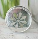 Deckel m. Blume für Mason Jars, div. Metallfarben