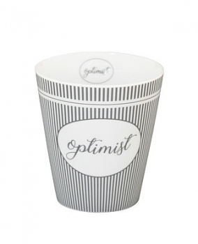 Tasse aus Porzellan Optimist