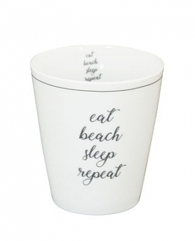 Tasse aus Porzellan Eat, Beach, Sleep, Repeat