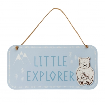 Holz-Schild Little Explorer