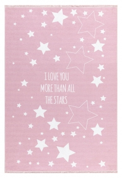 Teppich More than all the stars  rosa