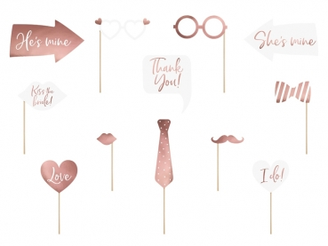 Photo Booth Set rose gold