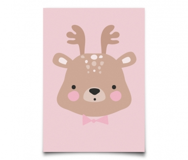 Postkarte Mrs. Deer
