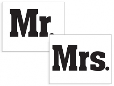 Schuhstickers Mr. & Mrs.