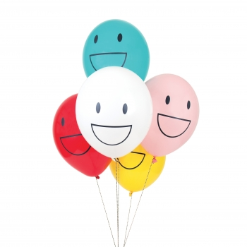 Luftballons Happy Faces 5er Set