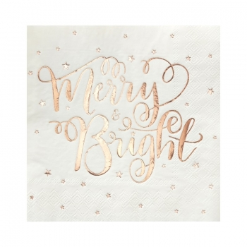 Papierservietten Merry & Bright