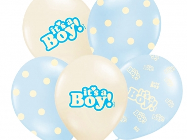 Luftballons It's a boy 5er Set