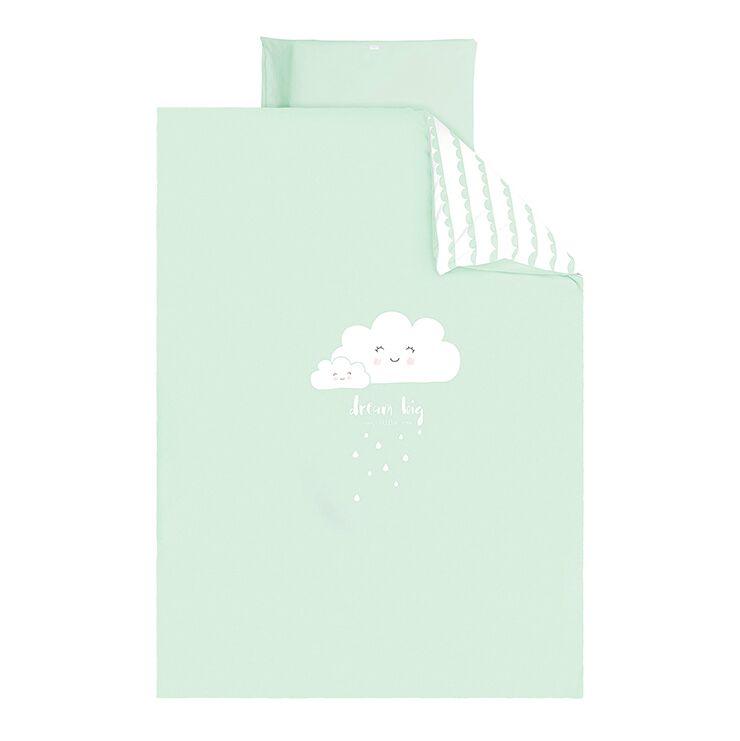 Babybettwäsche Mit Wolke Mint 100x135cm Honeyhomech