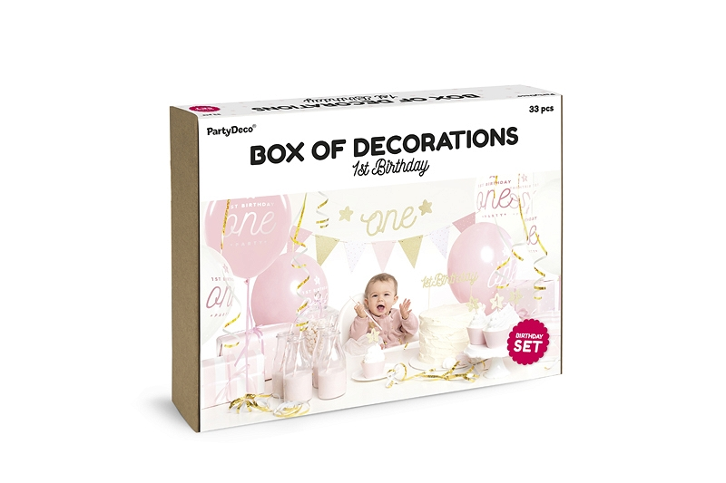 Party Box 1 Geburtstag Rosa Gold Honeyhome Ch