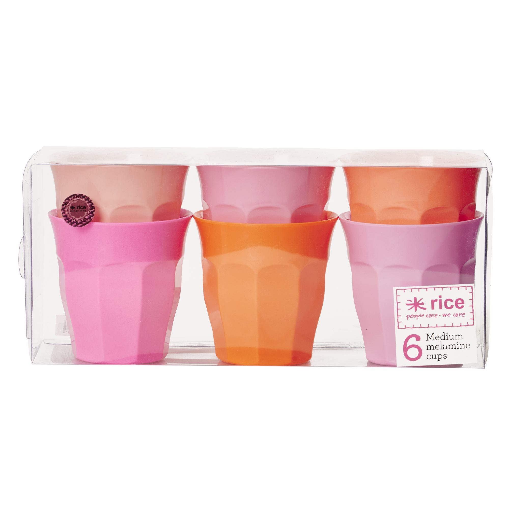 rice becher 6er set orange rosa t ne. Black Bedroom Furniture Sets. Home Design Ideas