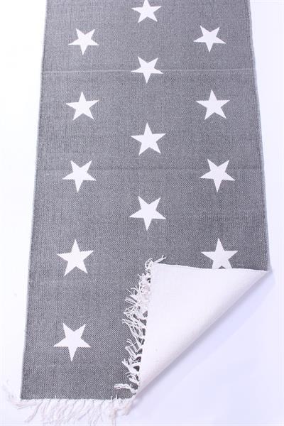 teppich mit sternen grau weiss