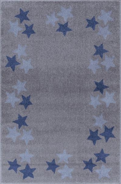 teppich mit sternen bord re grau blau hellblau. Black Bedroom Furniture Sets. Home Design Ideas