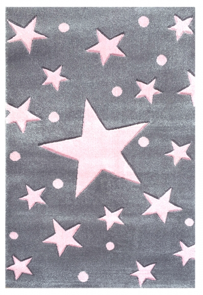 teppich sternen punkten grau rosa. Black Bedroom Furniture Sets. Home Design Ideas