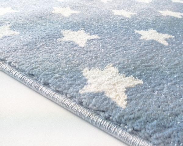 Teppich mit kleinen sternen hellblau - Sternen teppich kinderzimmer ...