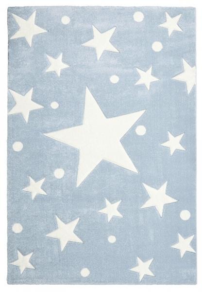 Teppich sternen punkten hellblau weiss - Sternen teppich kinderzimmer ...
