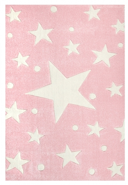 Teppich sternen punkten hellrosa weiss - Sternen teppich kinderzimmer ...